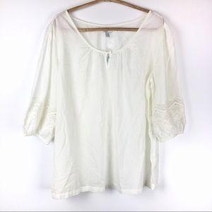 Old Navy | White Boho top | XL